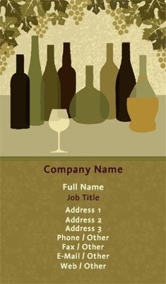 Open Bar Business Card Template